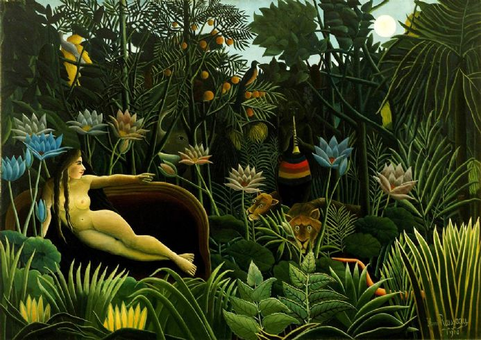 Rousseau, Henri: The Dream. Fine Art Print/Poster. Sizes: A4/A3/A2/A1 (00559)